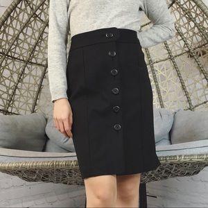 Ann Taylor Loft Button Down Pencil Skirts - Black